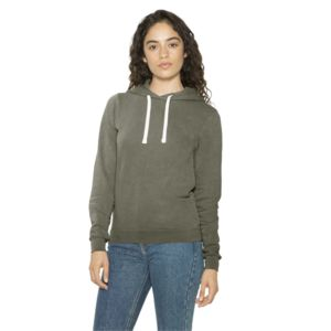 Women's French Terry Garment Dyed Mid-Length Hoodie Thumbnail