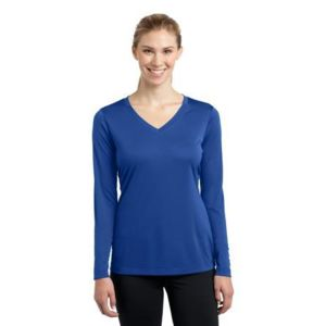 LST353LS Ladies Long Sleeve PosiCharge ® Competitor™ V Neck Tee Thumbnail
