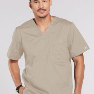 Cherokee Workwear Core Stretch 4743 Men's V-Neck Top Thumbnail