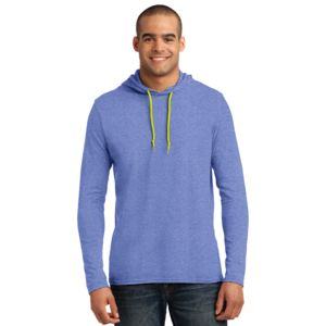 987- 100% Combed Ring Spun Cotton Long Sleeve Hooded T Shirt Thumbnail