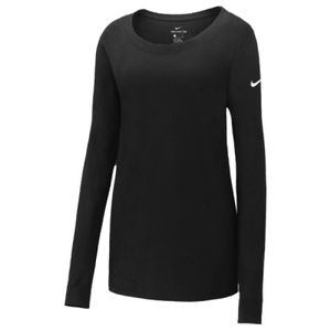 Ladies Core Cotton Long Sleeve Scoop Neck Tee Thumbnail